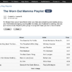 The Worn Out Mamma Playlist