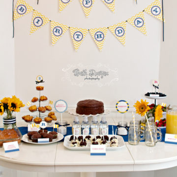 Yellow and Navy Blue Birthday Parties