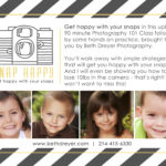 Snap Happy Photography Workshop | Beth Dreyer Photography