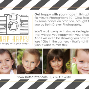 Snap Happy Photography Class!
