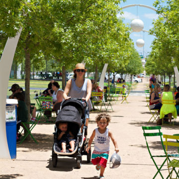 Klyde Warren Park Day and Night