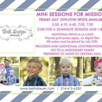 Mini-Sessions for Missions!